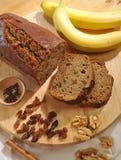 Bananowego chleba przeciwu ingredienti Zdjęcie Stock