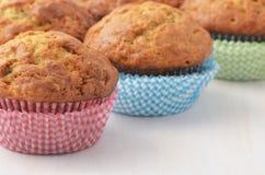Bananowi muffins Obrazy Stock