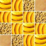 Bananowi tekstury inside kwadrata kształty Zdjęcie Royalty Free