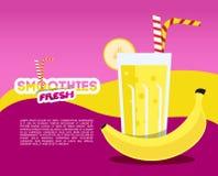 Bananowy świeży Smoothie Obrazy Royalty Free