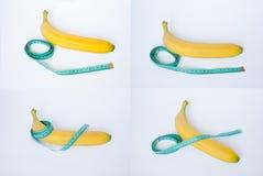 Bananowy centymetr Zdjęcia Royalty Free