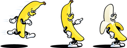 bananowy charakter Obrazy Stock