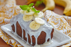 Bananowy chleb Zdjęcie Stock