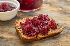 Bananowy chleb z cranberry Fotografia Stock