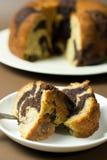 Bananowy czekoladowy bundt tort Zdjęcie Royalty Free