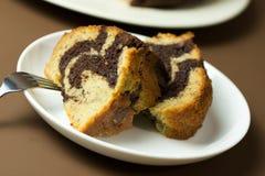 Bananowy czekoladowy bundt tort Fotografia Royalty Free