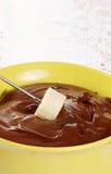 bananowy czekoladowy fondue obrazy royalty free