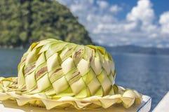 Bananowy kapelusz Zdjęcia Stock