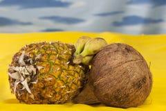 bananowy kokosowy ananas obrazy royalty free