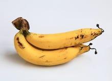Bananowy kolor żółty na białym tle Zdjęcie Royalty Free