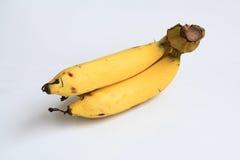 Bananowy kolor żółty z białym tłem Zdjęcie Stock