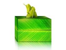 Bananowy liść tkanek pudełko Fotografia Stock