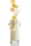 Bananowy Milkshake Zdjęcia Royalty Free