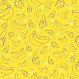 Bananowy owocowy bezszwowy lato wzoru tła wektoru format ilustracja wektor