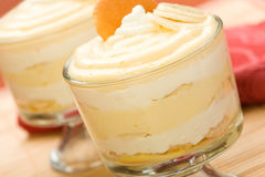 bananowy pudding Zdjęcia Stock