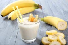 Bananowy smoothie Obrazy Royalty Free
