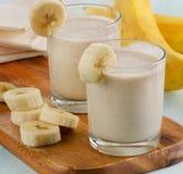 Bananowy Smoothie Fotografia Royalty Free