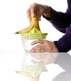 Bananowy sok Fotografia Stock