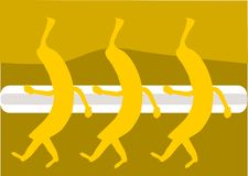 bananowy taniec ilustracji