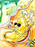 bananstrand stock illustrationer