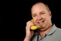 Banantelefon Royaltyfri Bild