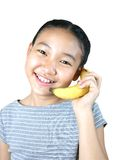 banantelefonserie Arkivbilder