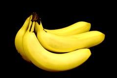 banany bunch dojrzałego kolor żółty obrazy stock