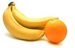banany bunch jeden pomarańcze Zdjęcia Royalty Free