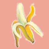Banany ilustracyjni z naturalnymi pastelowymi wizerunkami Zdjęcie Stock