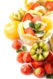Banany, kiwi i truskawka, Obraz Royalty Free