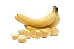 Banany na białym tle, odosobneni cuted banany Obraz Royalty Free