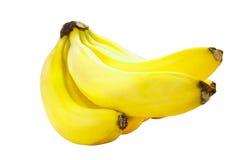 banany odizolowane białe tło Obrazy Stock