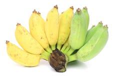 banany odizolowywający Fotografia Royalty Free