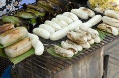banany piec na grillu Fotografia Stock