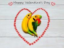 Banany w miłości Zdjęcie Stock