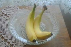 Banany w pucharu wciąż życiu Fotografia Stock