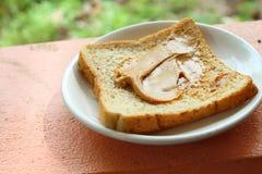 Banatka i masło orzechowe Obraz Stock