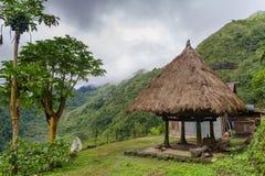 banaue的传统房子 库存图片