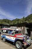 Banaue jeepney lizenzfreie stockbilder