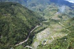 Banaue luzon Filippine della strada della montagna Fotografia Stock