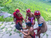 Ifugao ethnic minority in the Philippines. BANAUE, PHILIPPINES - MAY 02 : People from Ifugao Minority in Banaue the Philippines on May 02 2018. The Ifugao Royalty Free Stock Photo