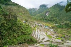 Banaue Rice Terraces. View over the village Batad near Banaue Royalty Free Stock Photo