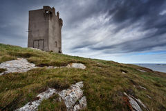 Banba's Crown tower. Malin Head, county Donegal, Ireland Stock Photography