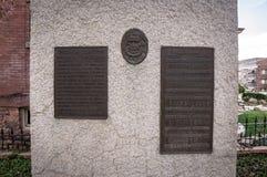 Banbrytande minnesmärke för mormon, i stadens centrum Salt Lake City, Utah arkivbild