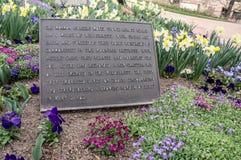 Banbrytande minnesmärke för mormon, i stadens centrum Salt Lake City, Utah royaltyfri bild