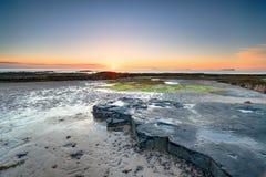 Banburgh plaża w Northumberland zdjęcie royalty free