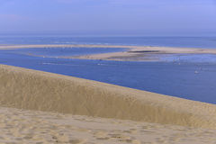 Banc of Arguin seen from Dune of Pilat Stock Images