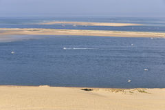 Banc of Arguin seen from Dune of Pilat Royalty Free Stock Images