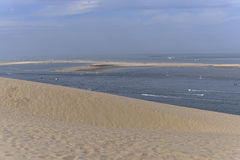 Banc of Arguin seen from Dune of Pilat Stock Image