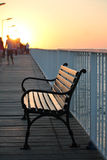 Banc au lever de soleil Photos libres de droits